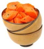 Honig gebackene Karotten stockfotografie