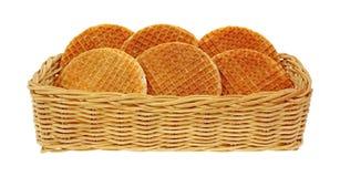 Honig gefüllte Oblaten im Korb stockbilder