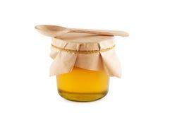 Honig im Glas getrennt. Stockbild