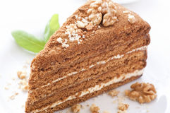 Honig-Kuchen Lizenzfreie Stockfotografie