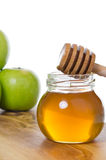 Honig mit Äpfeln Lizenzfreies Stockbild