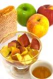 Honig und Äpfel lizenzfreies stockbild