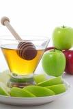Honig und Äpfel Stockfoto
