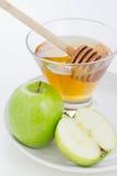 Honig und Äpfel Stockfotos