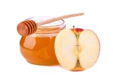 Honig und Apfel Lizenzfreies Stockfoto