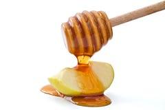 Honig und Apfel Stockbilder