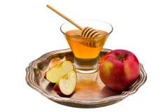 Honig und Apfel Lizenzfreie Stockfotos