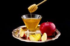 Honig und Apfel Lizenzfreies Stockbild