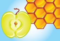 Honig-und-Apfel Stockbild