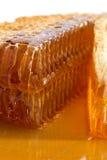 Honig und Bienenwabe Stockfotografie