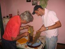 Honig und Bienenwabe Lizenzfreies Stockbild