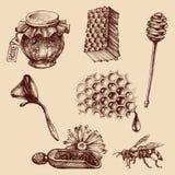 Honig und Bienenzuchtsatz Lizenzfreie Stockfotografie