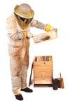 Honig und Kamm Stockbilder