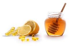 Honig und Zitrone Stockfoto