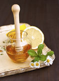 Honig und Zitrone Lizenzfreies Stockbild
