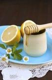 Honig und Zitrone Stockbild