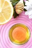 Honig und Zitrone Lizenzfreies Stockfoto