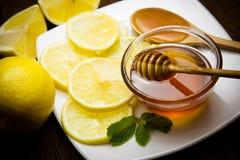 Honig und Zitrone Lizenzfreie Stockfotos