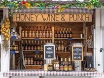Honig, Wein und Durchschlag Mini Store lizenzfreies stockfoto
