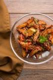 Honigpaprikakartoffel oder Kartoffelkeile lizenzfreie stockbilder