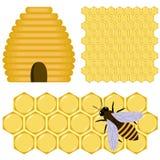 Honigset Stockbild