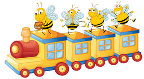 Honing bess op trein Stock Fotografie