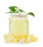 Honing, droge schil, citroenbloem. royalty-vrije stock afbeelding