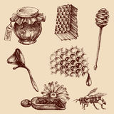 Honing en bijenteeltreeks Royalty-vrije Stock Fotografie