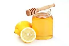 Honing en citroen Royalty-vrije Stock Fotografie