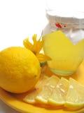 Honing en citroen Royalty-vrije Stock Afbeelding