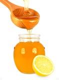 Honing en citroen Royalty-vrije Stock Afbeeldingen