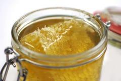 Honing en honingraat Stock Foto