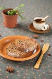 Honing en Kruidbroodcake Royalty-vrije Stock Fotografie
