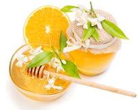 Honing en sinaasappel Royalty-vrije Stock Afbeeldingen