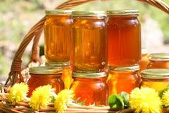 Honing in glas Royalty-vrije Stock Afbeelding