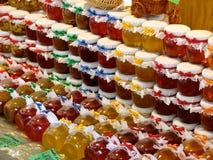 Honing, jam en marmelade Stock Foto's
