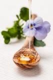 Honing op een lepel Royalty-vrije Stock Afbeelding