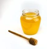 Honing op een wit Royalty-vrije Stock Foto