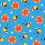 Honingbijen en bloemen Royalty-vrije Stock Fotografie