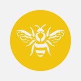 Honingbijpictogram Vector illustratie Stock Afbeeldingen