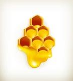 Honingraat stock illustratie