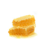 Honingraat die op een witte achtergrond wordt geïsoleerdf Royalty-vrije Stock Foto's