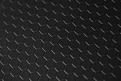 Honingraat teflon zwarte achtergrond Stock Foto