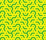 Honingraatpatroon in geelgroene tonen Stock Foto