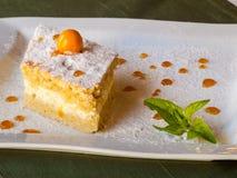 Honingscake met kaas en munt Royalty-vrije Stock Afbeelding