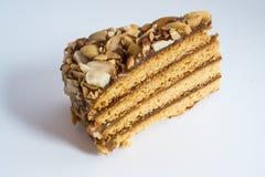 Honingscake met pinda's Royalty-vrije Stock Afbeelding