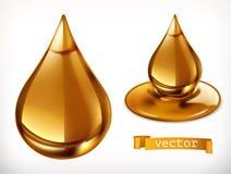 Honingsdaling Drie kleurenpictogrammen op kartonmarkeringen royalty-vrije illustratie
