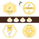 Honingsetiketten Royalty-vrije Stock Afbeeldingen