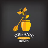 Honingskenteken en etiket Royalty-vrije Stock Foto's