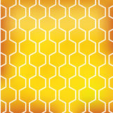 Honingspatroon op gele achtergrond Stock Foto's